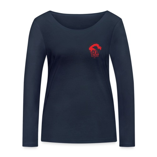Sea of red logo - small red - Women's Organic Longsleeve Shirt by Stanley & Stella