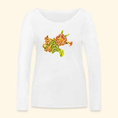 Trompetenbaum Blüten von S.A.R.A. - Frauen Bio-Langarmshirt von Stanley & Stella
