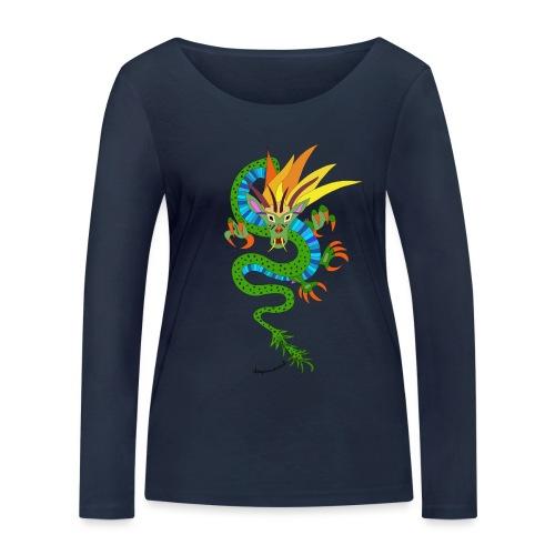 Baldrian der schöne Drachen - Frauen Bio-Langarmshirt von Stanley & Stella