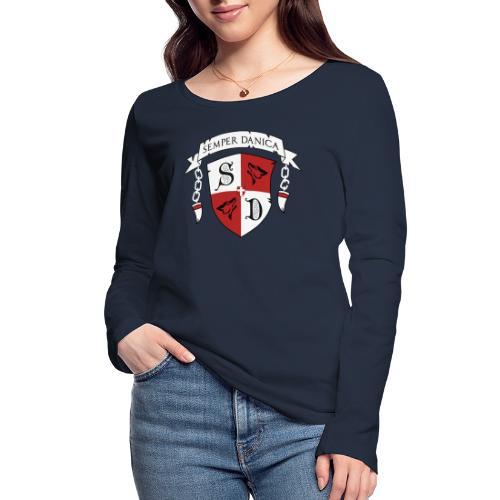 SD logo - hvide lænker - Økologisk Stanley & Stella langærmet T-shirt til damer