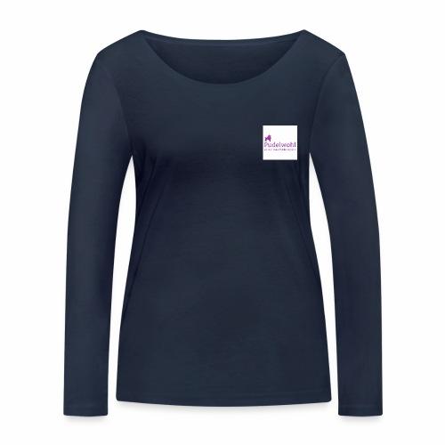 Pudelwohllogo lila jpg - Frauen Bio-Langarmshirt von Stanley & Stella