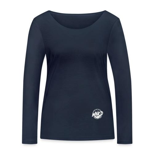 WNKD WEAR LOGOTYP WHITE - Ekologiczna koszulka damska z długim rękawem Stanley & Stella
