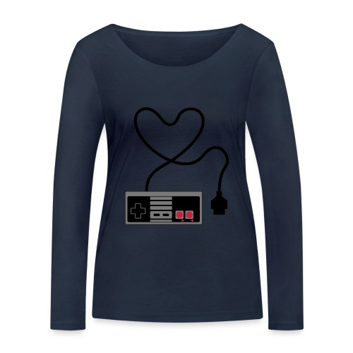 NES Controller Heart - Women's Organic Longsleeve Shirt by Stanley & Stella