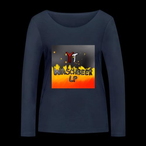 Waschbeer Design 2# Mit Flammen - Frauen Bio-Langarmshirt von Stanley & Stella
