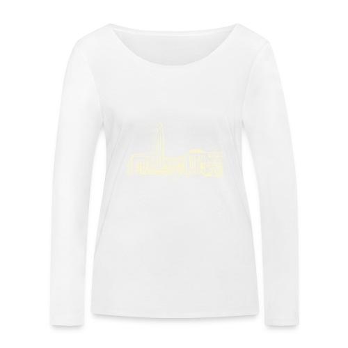 Helsinki railway station pattern trasparent beige - Women's Organic Longsleeve Shirt by Stanley & Stella