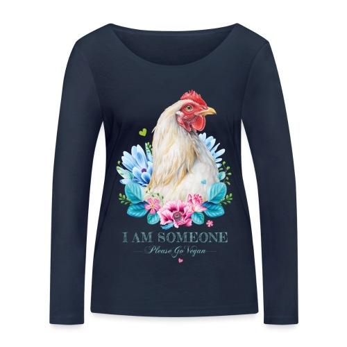 Hen with flowers - Women's Organic Longsleeve Shirt by Stanley & Stella