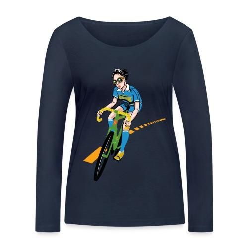 The Bicycle Girl - Frauen Bio-Langarmshirt von Stanley & Stella