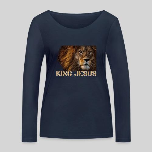 König Jesus der Löwe von Juda - Frauen Bio-Langarmshirt von Stanley & Stella