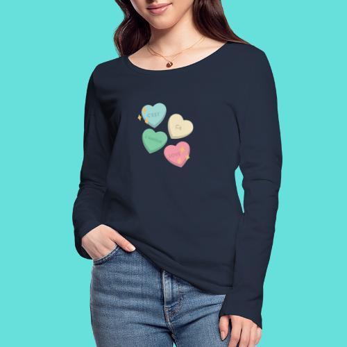 C'est ça l'amour, love - T-shirt manches longues bio Stanley & Stella Femme