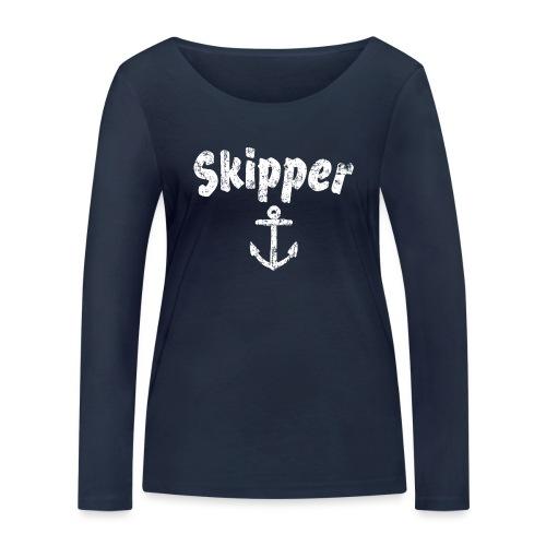 Skipper Anker (Vintage Weiß) Segler Boot & Segel - Frauen Bio-Langarmshirt von Stanley & Stella