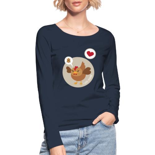 I love Vegans - Vrouwen bio shirt met lange mouwen van Stanley & Stella