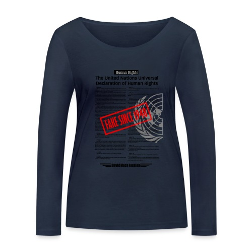 Human Rights - T-shirt manches longues bio Stanley & Stella Femme