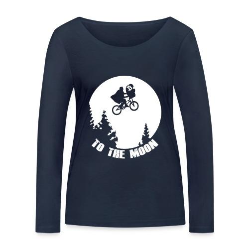 to the moon,bitcoin - Vrouwen bio shirt met lange mouwen van Stanley & Stella