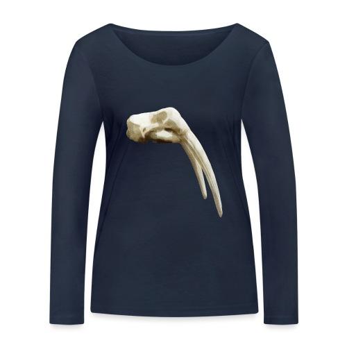 Schedel van een walrus - Vrouwen bio shirt met lange mouwen van Stanley & Stella