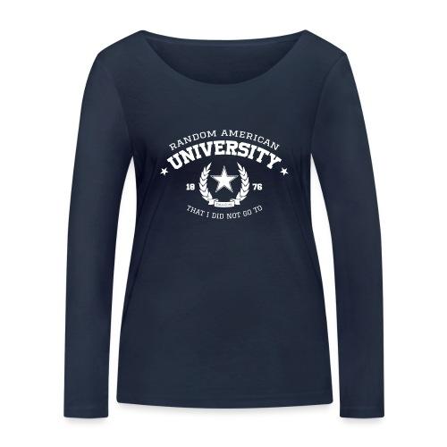 Random University - Vrouwen bio shirt met lange mouwen van Stanley & Stella
