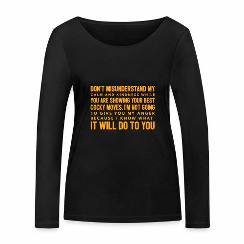 confidence - Økologisk Stanley & Stella langærmet T-shirt til damer