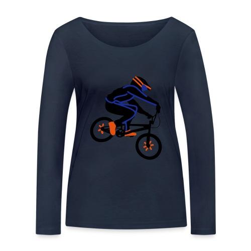 BMX Rider Dark - Vrouwen bio shirt met lange mouwen van Stanley & Stella