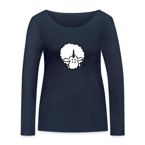 Ewenicorn: ¡es una oveja unicornio arcoiris! - Camiseta de manga larga ecológica mujer de Stanley & Stella