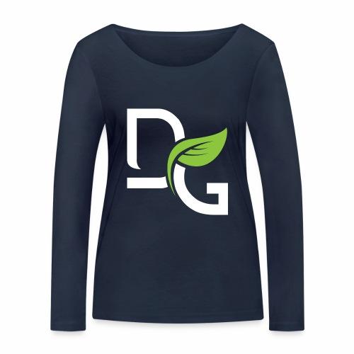 DrGreen Logo Symbol weiss grün - Frauen Bio-Langarmshirt von Stanley & Stella