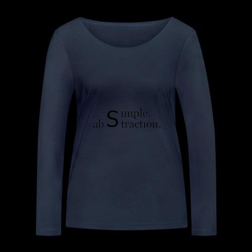simple. abstraction. logo - Frauen Bio-Langarmshirt von Stanley & Stella
