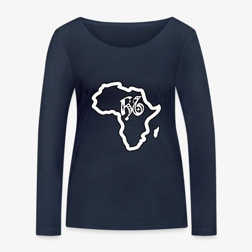 afrika pictogram - Vrouwen bio shirt met lange mouwen van Stanley & Stella