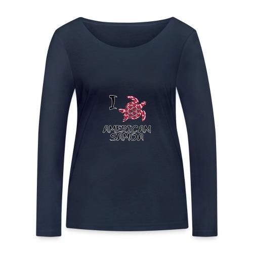 I Love American Samoa - Women's Organic Longsleeve Shirt by Stanley & Stella