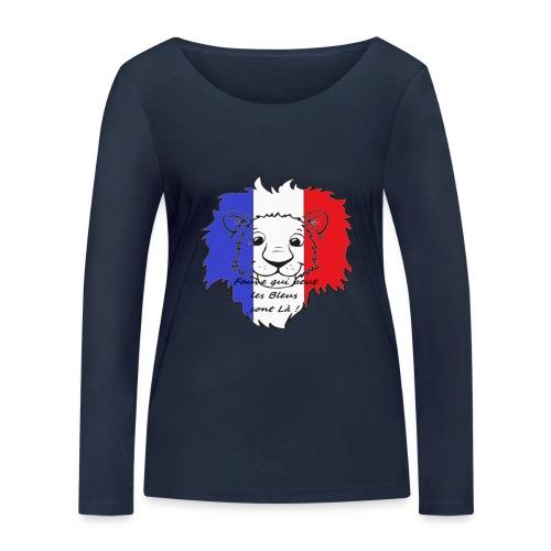 Lion supporter France - T-shirt manches longues bio Stanley & Stella Femme