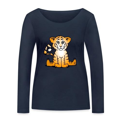 Tiger cub - Women's Organic Longsleeve Shirt by Stanley & Stella