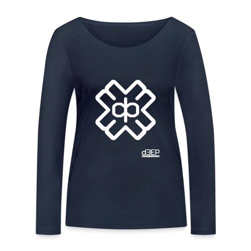 July D3EP Blue Tee - Women's Organic Longsleeve Shirt by Stanley & Stella