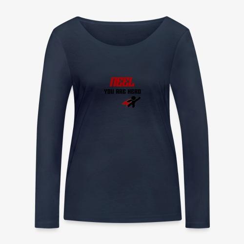 NEEL You Are Hero - Ekologiczna koszulka damska z długim rękawem Stanley & Stella