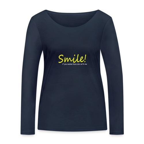 Smile for Sex - Frauen Bio-Langarmshirt von Stanley & Stella