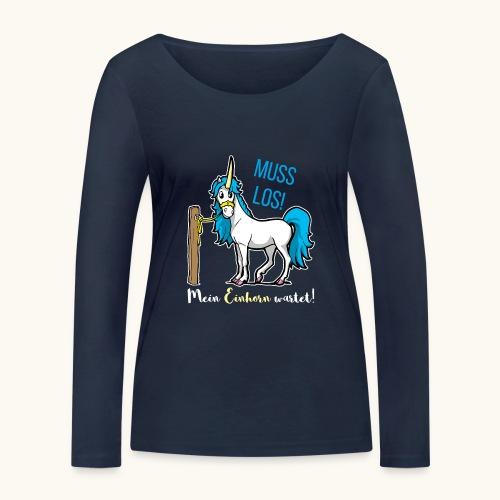 Dessin drôle de licorne disant bande dessinée cadeau - T-shirt manches longues bio Stanley & Stella Femme