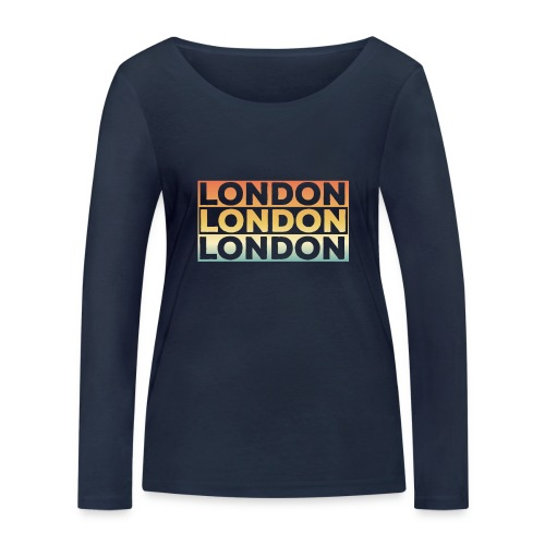 Vintage London Souvenir - Retro SehnsuchtLondon - Frauen Bio-Langarmshirt von Stanley & Stella
