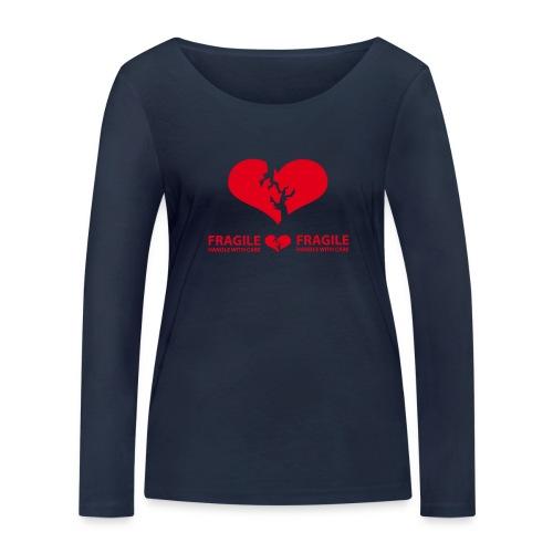 I am FRAGILE - Handle with care! - Ekologisk långärmad T-shirt dam från Stanley & Stella