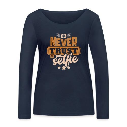 Never trust - Ekologisk långärmad T-shirt dam från Stanley & Stella