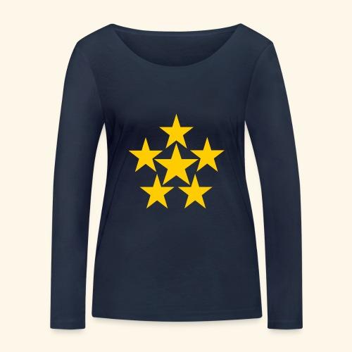 5 STERN gelb - Frauen Bio-Langarmshirt von Stanley & Stella