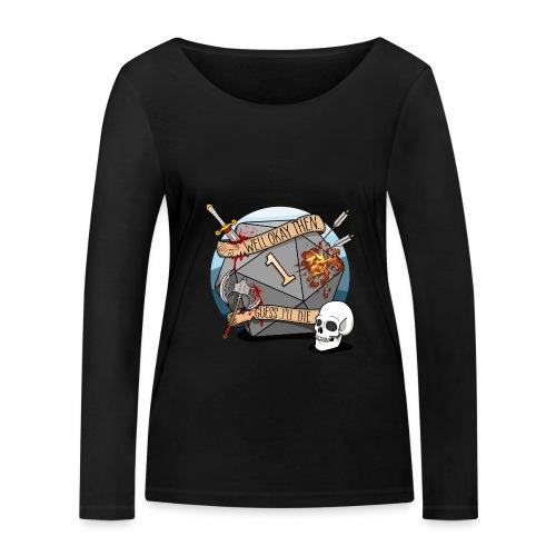 Arvelen kuolen - DND D & D Dungeons and Dragons - Stanley & Stellan naisten pitkähihainen luomupaita