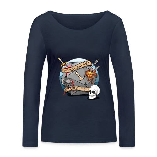 Guess I'll Die - DND D & D Dungeons and Dragons - Vrouwen bio shirt met lange mouwen van Stanley & Stella