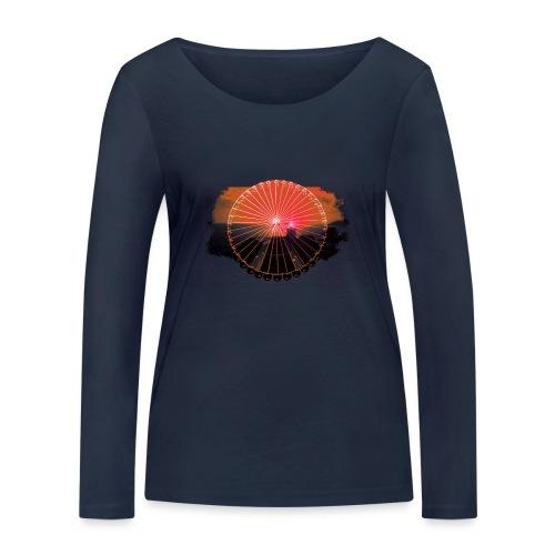 Ferris Wheel (orange) - Økologisk Stanley & Stella langærmet T-shirt til damer