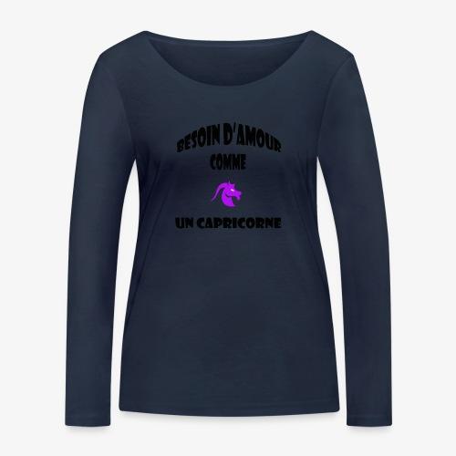 capricorne - T-shirt manches longues bio Stanley & Stella Femme