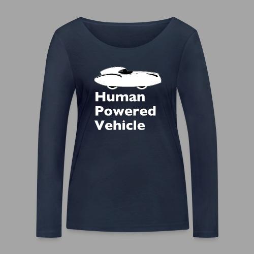 Quattrovelo Human Powered Vehicle white - Stanley & Stellan naisten pitkähihainen luomupaita