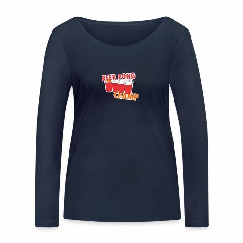 Beer Pong Champion - Frauen Bio-Langarmshirt von Stanley & Stella