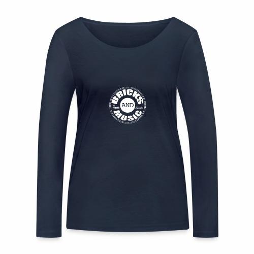 Logo bricks and music WHITE - Maglietta a manica lunga ecologica da donna di Stanley & Stella