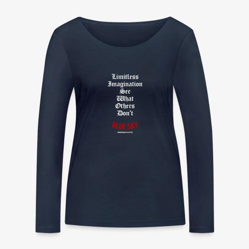 Limitless Imagination Wit - Vrouwen bio shirt met lange mouwen van Stanley & Stella