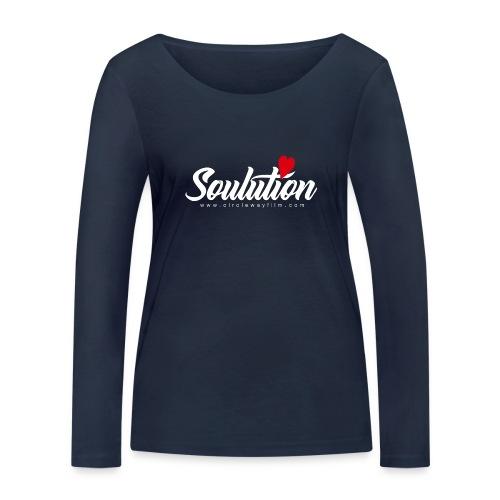 Soulution Logo – weiß - Frauen Bio-Langarmshirt von Stanley & Stella