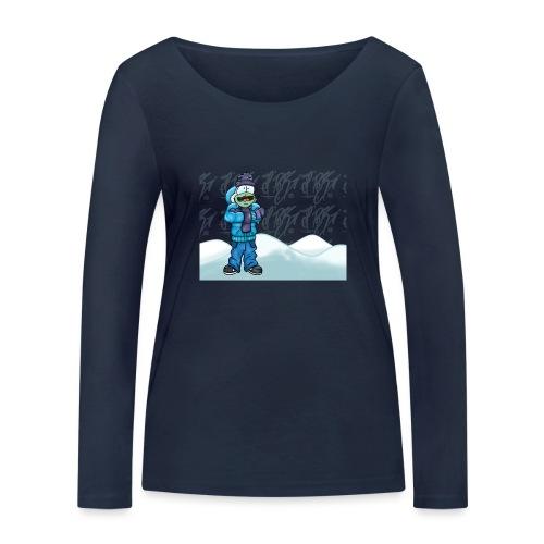Freezing Turtle Snowboarder/Frierender Snowboarder - Frauen Bio-Langarmshirt von Stanley & Stella