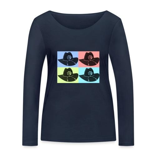 cuatro rick - Camiseta de manga larga ecológica mujer de Stanley & Stella