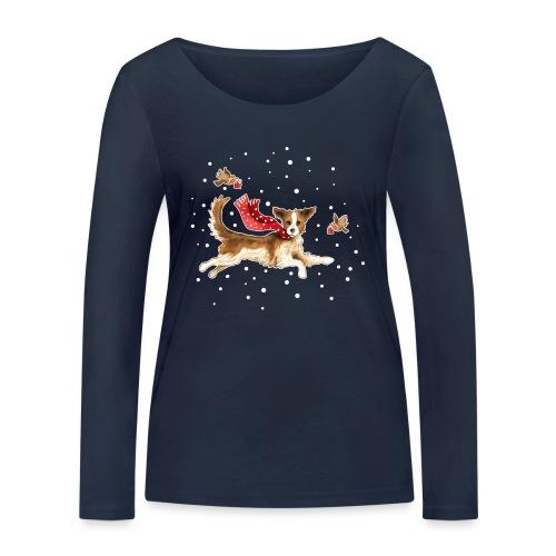 Suza met sneeuwvlokken - Women's Organic Longsleeve Shirt by Stanley & Stella