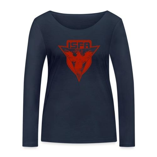 isfa logo 1c rot - Frauen Bio-Langarmshirt von Stanley & Stella