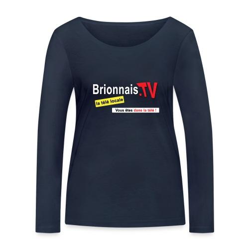 BTV logo shirt dos - T-shirt manches longues bio Stanley & Stella Femme